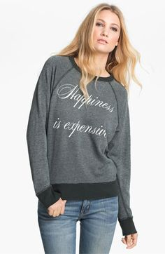 Wildfox 'Happiness Is Expensive' Graphic Sweatshirt available at #Nordstrom