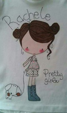 Pretty t-shirt.so lovely! Free Motion Embroidery, Shirt Embroidery, Embroidery Fashion, Embroidery Designs, Sewing Appliques, Applique Patterns, Applique Quilts, Painted Clothes, Picture Postcards