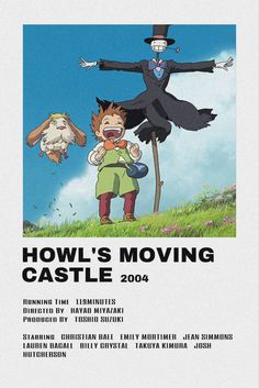 Howl's Moving Castle Movie, Howls Moving Castle, Collage Mural, Poster Anime, Anime Suggestions, Anime Titles, M Anime, Anime Watch, Japon Illustration