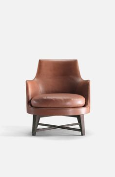 Welcome to Intirium! You can now order the finest Italian furniture brands delivered direct to your door and save up to on the local retail price on luxury Italian furniture brands. Small Leather Chairs, Brown Leather Chairs, Leather Lounge, Sofa Furniture, Modern Furniture, White Armchair, Swivel Armchair, Contemporary Armchair, Modern Armchair