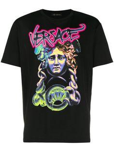 Shop Versace Medusa logo T-shirt Versace T Shirt f9a2adfc346fb