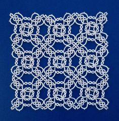 Needle Tatting, Tatting Lace, Tatting Patterns Free, Crochet Patterns, Filet Crochet, Crochet Lace, Square, Garter Stitch, Embroidery Stitches