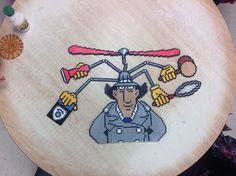 Inspector Gadget perler beads by Amanda Collison