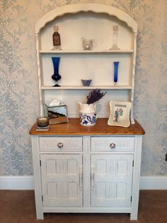 Welsh Dresser - Painted using Annie Sloan, Old White  Wax. Inherited Grace Decor - Facebook