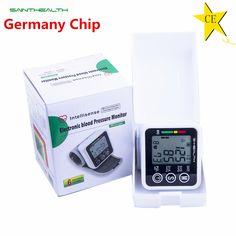 2016 الرعاية الصحية الجديدة ألمانيا رقاقة التلقائي المعصم الرقمية مراقبة ضغط الدم متر لقياس التوتر و معدل النبض