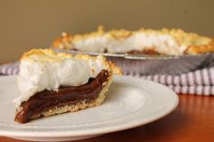 Old Fashion Chocolate Pie   via @Louisiana Bride