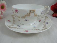 1930s Vintage German Roses luster ware Teacup by SecondWindShop