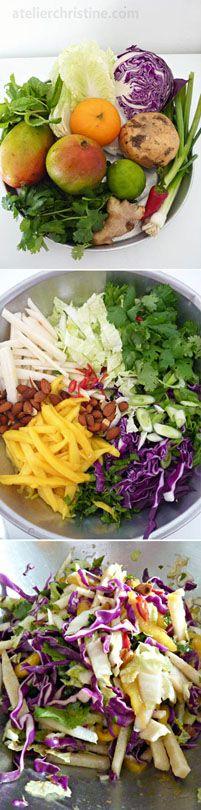 Minted Mango + Jicama Slaw recipe