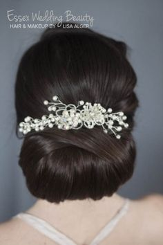 Vintage wedding bridal hair up do bun
