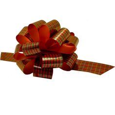 Christmas Gift Wrap Pull Bows - 5' Wide, Set of 6, Red Green Tartan ** Check out this great product.