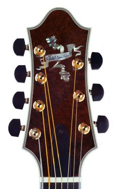 Headstock of Anima e Corpo, custom made for Bill Doyle.