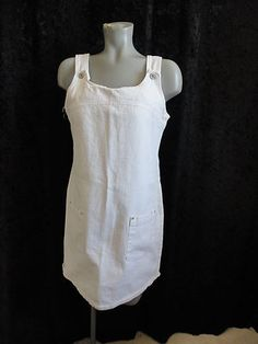 Size 8 - 10 Ladies ~ *Faded Glory - White Denium Jumper w/Pockets