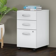 Bush Business Furniture Studio C 3 Drawer Mobile File Cabinet in White ** Find out more about the great product at the image link. (This is an affiliate link) Office Floor, Office Set, Small Office, Office Furniture, Business Furniture, Drawer Filing Cabinet, Filing Cabinets, Mobile File Cabinet, Organizing Paperwork