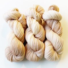 "Bis-sock yarn ""Vanille"" hand-dyed sock yarn"
