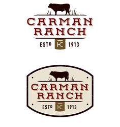 Carman Ranch is widely known for its progressive approach to sustainability and needed a brand to match. We updated the logo with western lettering and a steer silhouette that pays homage to the grassfed cattle for which the ranch is famous. To complete the logo, we grounded it with the Ranch's iconic cattle brand.