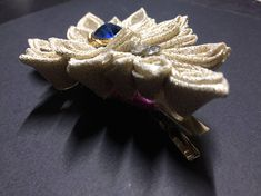Kanzashi Flower Hair Pin/ Kanzashi fabric flowers /Handmade
