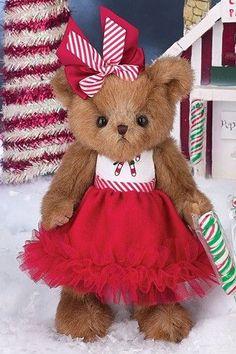 Bearington Bears Pippa Mint Christmas Bear $19.95