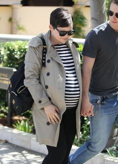 Ginnifer Goodwin and husband Josh Dallas are spotted out for lunch in Beverly Hills, California on April 25, 2016. The pair were seen holding hands as they made their way down the street.