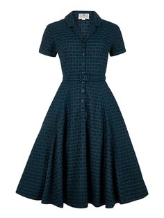 Caterina Chaise Check Swing Dress 1
