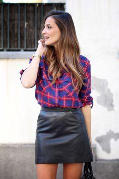 checked blouse - ladyaddict | StyleLovely