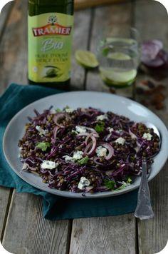 Salade de Lentilles et Choux Rouges aux Raisins Secs