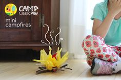 how to make mini campfires for pretend play