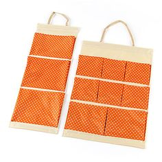 Fashion Point Oxford Multi-Compartment Hanging Storage Bags