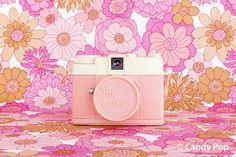 'Pink Camera' by Candypop Vintage Bohemian, Vintage Pink, Vintage Decor, Floral Fabric, Floral Prints, Camera Candy, Candy Pop, Vintage Fabrics, Kitsch