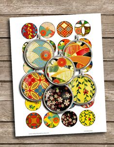 Oriental Digital Collage Sheets 12mm 14mm 16mm by MobyCatGraphics