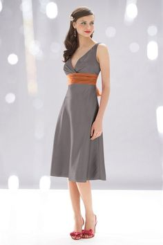 pretty bridesmaid dress for a Halloween wedding, hint hint