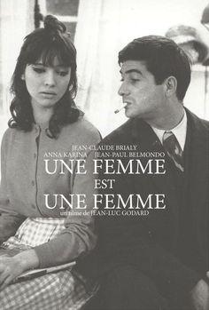 """""""Une femme est un femme"""" / """"A Woman Is a Woman"""" (France) - a film by Jean-Luc Godard."""
