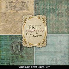 Vintage PNG Textured Paper- Printables