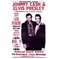 Reproduction Vintage Concert Posters   ... Elvis Presley Concert Poster, Vintage Reproduction, Mississippi