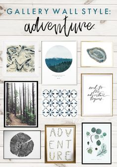 Style your home with a gallery wall filled with adventure & nature inspired art by etsy makers.