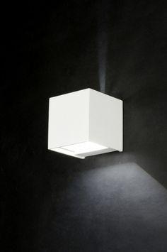 Wandlamp 71975: Modern, Design, Aluminium, Wit