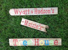 Kids Personalized Sign for a Tree House or Club House by likeIsaid, $20.50