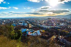 Graz von oben (Schlossberg) | Flickr - Photo Sharing! Photography Photos, Dolores Park, Explore, Mountains, Nature, Travel, Graz, Naturaleza, Viajes
