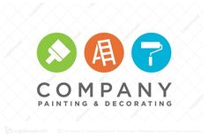 A modern and bright logo for a Painter & Decorator, or someone with a similar trade. Description from logoground.com. I searched…