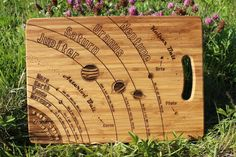 'The Solar System' (Space) Custom Engraved Chopping Board Orbital Period, Wine Bottle Gift, Wooden Gifts, Love Gifts, Custom Engraving, Solar System, Bamboo Cutting Board, Gift Tags, Boards