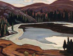 """Near Lake Superior,"" Lawren Stewart Harris, ca. oil on board, 10 x 13 private collection. Tom Thomson, Group Of Seven, Canadian Art, Fine Art Auctions, Lake Superior, Oil, Landscape, Board, Artist"