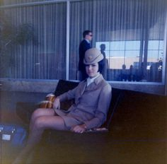 In Pan Am's lounge waiting for my flight.
