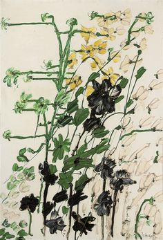 thunderstruck9:  Thanos Tsingos (Greek, 1914-1965), Flowers, 1960. Oil on canvas, 128.3 x 87.6 cm.