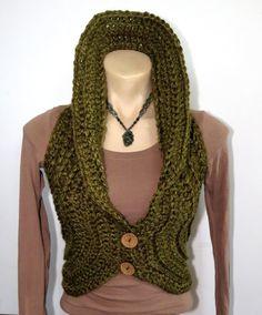 LADIES VEST crochet with buttons pixie hippie burning Beanie Pattern Free, Crochet Headband Pattern, Vest Pattern, Crochet Patterns, Pixie, Crochet Clothes, Crochet Vests, Crochet Top, Lace Knitting