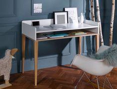 Bureau enfant Evidence Top Tiroir Workspace Inspiration, Office Desk, Corner Desk, Furniture, Home Decor, Place, Parents, Design, Child Room