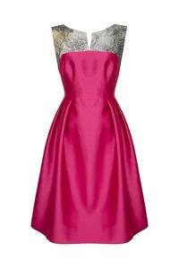 Angelica Metalic Flower Dress Front