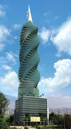 Revolution Tower Panama.  Reminds me of the Marilyn Monroe towers in Mississauga