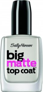Matte Nail Polish: How to Make It Last Longer | Sally Hansen Big Matte Top Coat