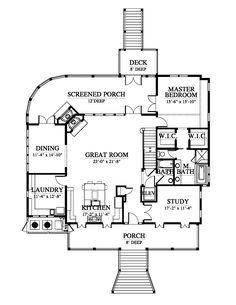 Bermuda Bluff House Plan Design from Allison Ramsey Architects - shedhouse Cottage House Plans, Bedroom House Plans, Cottage Homes, The Plan, How To Plan, Small House Floor Plans, Dream House Plans, House Blueprints, Tiny House Living