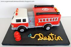 Fire Engine Truck Cake SugarSweetCakes (Angela Tran)