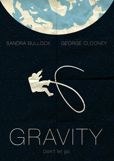 Gravity (2013) ~ Minimal Movie Poster by Omer Aldemir #amusementphile